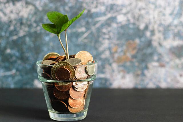 お金が成長しているイメージ