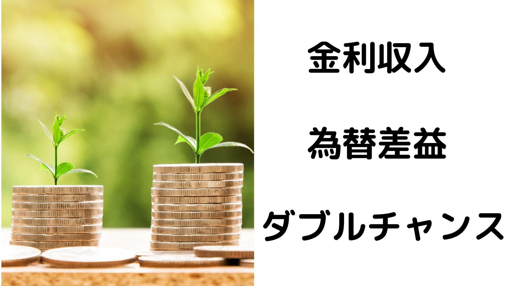 金利と為替変動のダブルチャンス